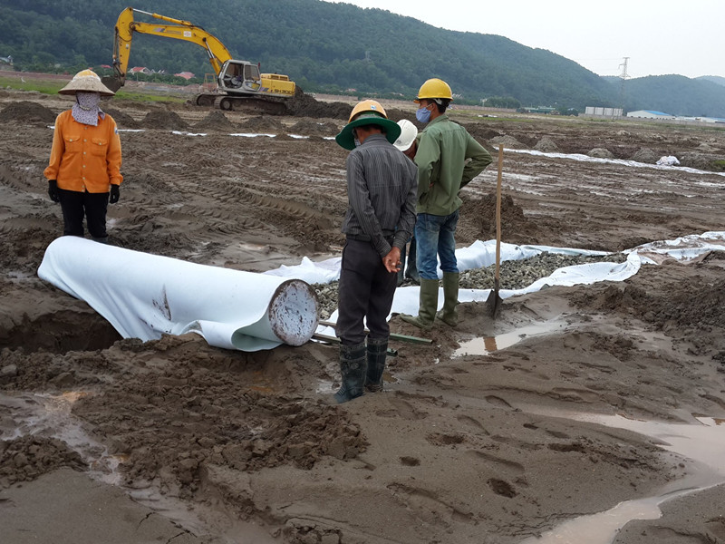 Construction case of Geotextile